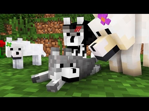 Wolf Life: The Family -- Cubic Minecraft Animation (видео)