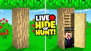 Minecraft Hide Or Hunt, but it was a livestream