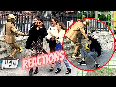 New Golden Statue Prank & Reaction with Nickxar  in Dublin, Ireland