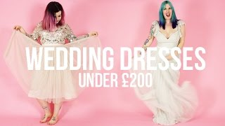SORRY ABOUT THE AUDIO. HOWEVER, we look at some alternative wedding dresses, all under £200!!! We found them here: ...