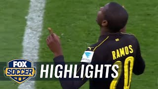 Christian Pulisic assists on Adrian Ramos goal vs. Ingolstadt | 2016-17 Bundesliga Highlights by FOX Soccer