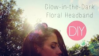 DIY Glow-in-the-Dark Floral Headband - YouTube