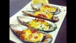 Level: Easy Ingredients: Mussels Mayonaise Bacon Mozzarella Cheese Cheedar Cheese Cayenne Pepper Dried Parsley Flakes Music by: Nobody.one: ...