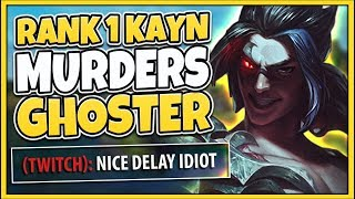 Video #1 KAYN WORLD VS. CHALLENGER GHOSTER! RANK 1 KAYN VS. CHEATING TROLL - League of Legends MP3, 3GP, MP4, WEBM, AVI, FLV April 2019
