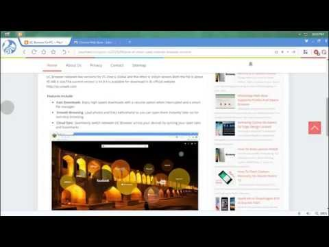 Video UC Browser For PC Review ! download in MP3, 3GP, MP4, WEBM, AVI, FLV January 2017