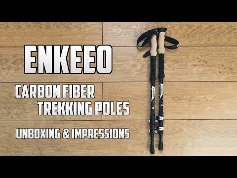 Enkeeo Carbon Fiber Trekking Pole Initial Impressions – Budget Lightweight CF Poles