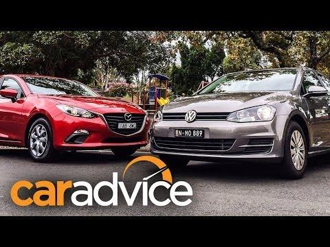 2014 Mazda 3 vs VW Golf Comparison Review