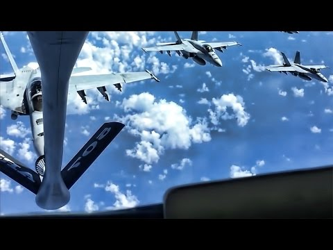 U.S. Navy F-18 Hornets and Canadian...