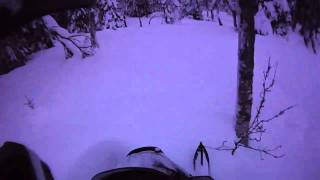 10. 2007 & 2008 Polaris RMK 600 HO 144 in Swedish powder. Contour HD helmet cam. vol 5