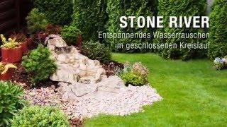 Bachlauf Stone River. Genieß Wasser in deinem Garten! Wasser im Kreislauf. Schnelle Montage. Bachlauf ohne Teich. Fluss in deinem Garten.
