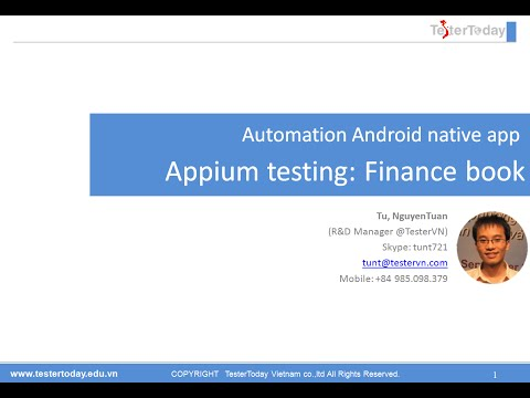 Appium Testing: Finance book app