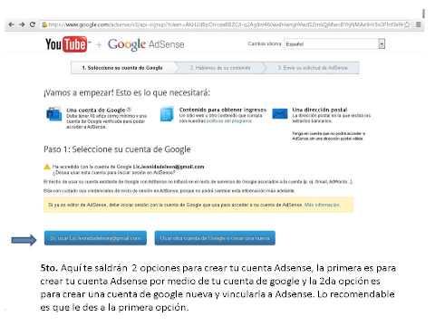 Como Crear Cuenta de Google Adsense 2013 SOLUCIONADO