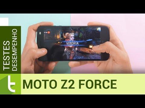 Desempenho do Moto Z2 Force  Teste de velocidade oficial do TudoCelular