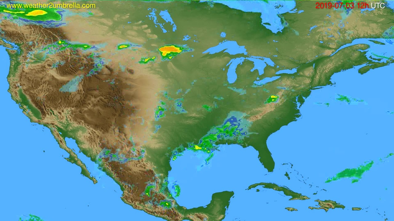 Radar forecast USA & Canada // modelrun: 00h UTC 2019-07-03