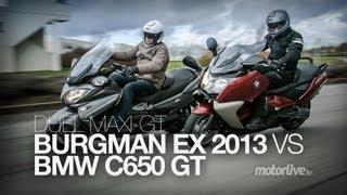 6. DUEL | BMW C650 GT 2013 vs SUZUKI BURGMAN 650 Executive 2013 !