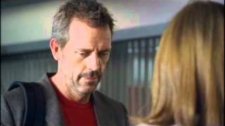 House (Hugh Laurie, L) meets the new new team member (guest star Vinessa Shaw, R) in the