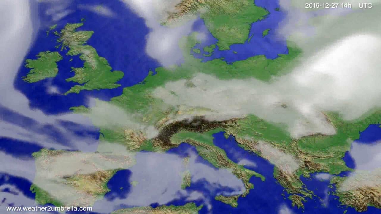 Cloud forecast Europe 2016-12-23