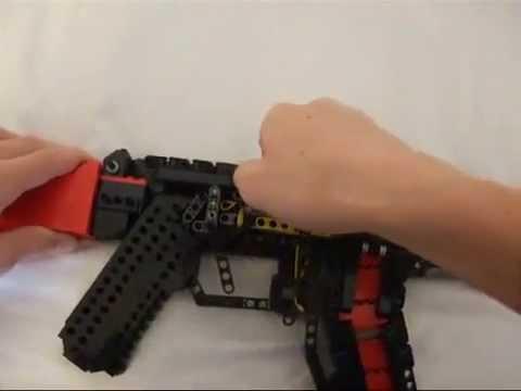 Как из лего сделать автомат который стреляет