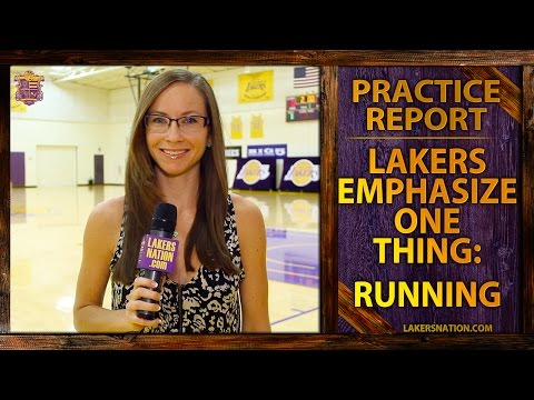 lakers - At the first Lakers practice with head coach Byron Scott, everyone emphasized one thing - conditioning. Kobe said he's never run that much in an NBA practice. Join the Largest Lakers Fan Site...