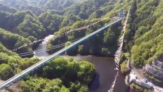 空撮 / 茨城県 竜神大吊橋と鯉のぼり