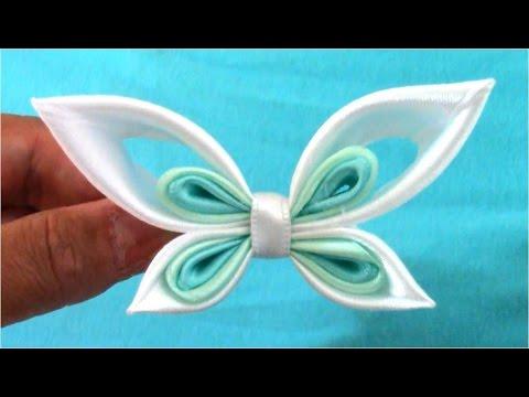 tutorial kanzashi – farfalla in raso