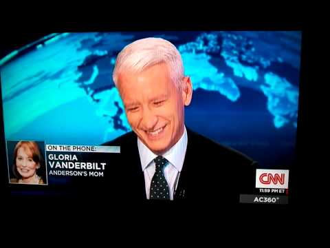 Anderson cooper's mom calls while he's on air.