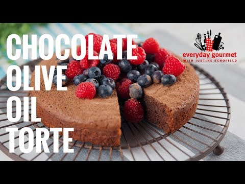 Chocolate Olive Oil Torte | Everyday Gourmet S7 E74