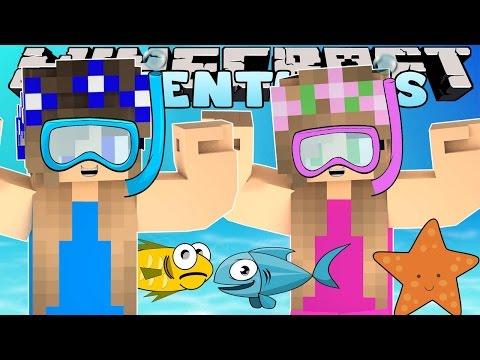 Minecraft-Little Carly Adventures-SCUBA DIVING SCHOOL w/Little Kelly.