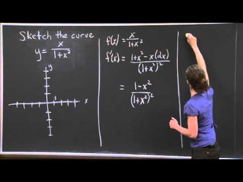 Sketching a curve | MIT 18.01SC Single Variable Calculus, Fall 2010