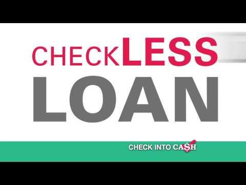 Check Into Cash Checkless Loan