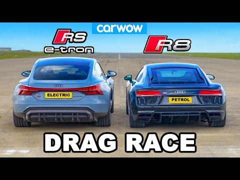 Audi R8 vs RS e-tron GT: DRAG RACE *The quickest Audi revealed*