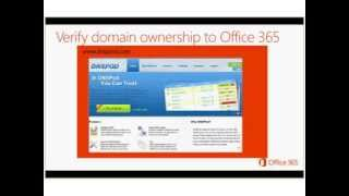 Ignite Webcast - Setting up Domains in the Office 365 Portal