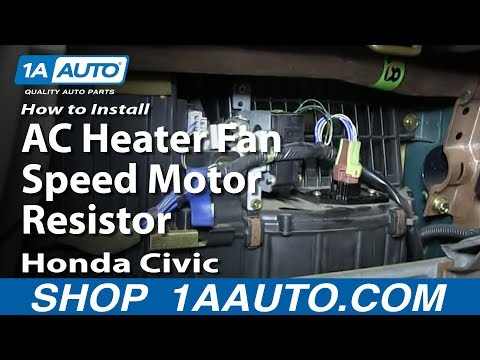 How To Install Replace AC Heater Fan Speed Motor Resistor 1992-98 Honda Civic