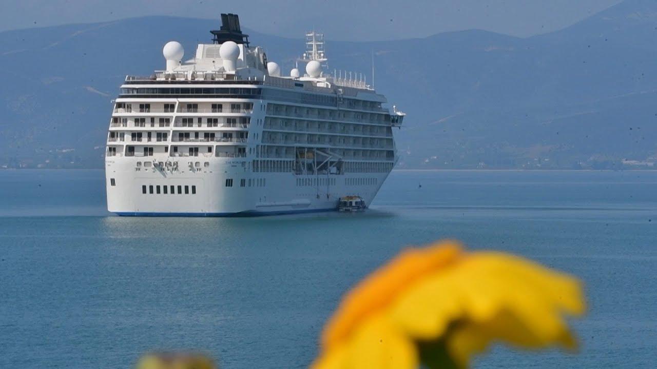 """""""The World """": Το πλοίο που κάνει το γύρο του κόσμου έκανε ποδαρικό για φέτος στο Ναύπλιο"""