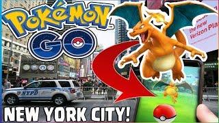 Pokémon Go NEW YORK CITY! LEGENDARY/RARE Pokemon! Times Square, Central Park Gameplay (POKEMON GO)