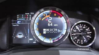 2015 Lexus RC F Gauges In Action - 2014 NAIAS Detroit