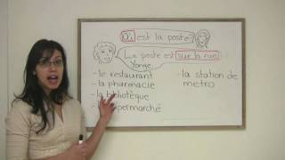 In this lesson, Rita explains how to ask for and give directions in French. You will also learn the vocabulary of  various common places, such as the restaurant, bank, etc. Presented by Diplomat Language School in Toronto, Canada.