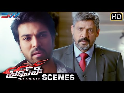 Ram Charan Warns Sampath Raj | Bruce Lee The Fighter Telugu Movie Scenes | Rakul Preet | Thaman