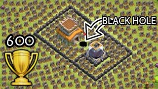 "Video Clash of Clans ""Black Hole TROLL BASE"" + 600 Cups Won in 3 days COC Funny Moments Defense Replays MP3, 3GP, MP4, WEBM, AVI, FLV Juni 2017"