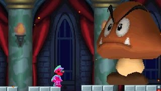 New Super Mario Bros DS - All Bosses with Super Stars