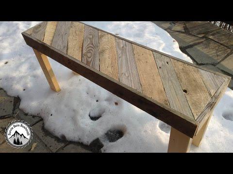 Comment fabriquer un banc rustique en palette