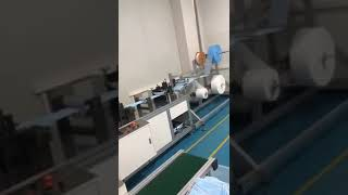 China automatic 3ply disposable medical surgical mask making machine youtube video
