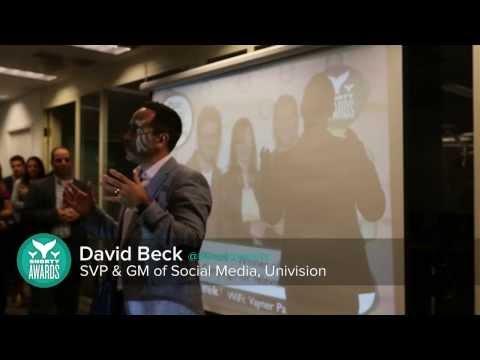 Gary Vaynerchuck (@garyvee) & David Beck (@dbecktweets) announce Univision's #Vinographer Award