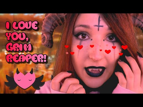ASMR - DEMON GIRL ~ I Might Have a Crush on You, Grim Reaper! | Admiration, Chanting, Soft Singing ~