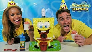 Video SpongeBob Sno-Cone Maker + Toy Challenge! || Toy Review || Konas2002 MP3, 3GP, MP4, WEBM, AVI, FLV Oktober 2018