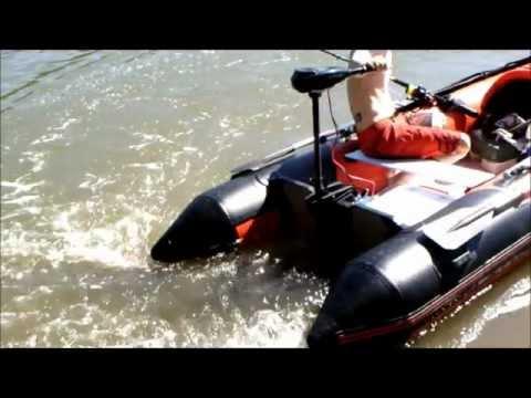 видео использования лодочного электромотора