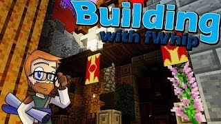Building with fWhip :: Castle Feast Hall Exterior :: #67 Minecraft 1.12 Single Player Survival