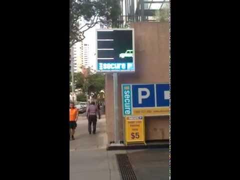 LED Signs - Secure Parking, Brisbane