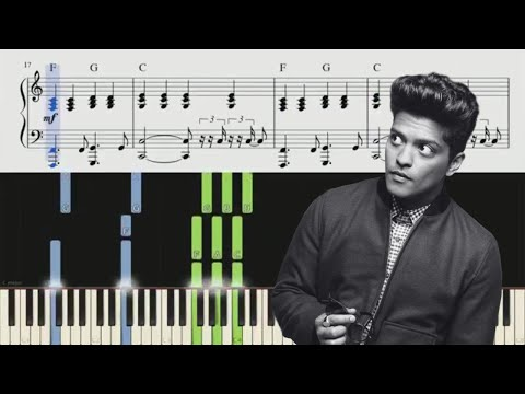 When I Was Your Man (Bruno Mars) Piano Tutorial + Chords (видео)