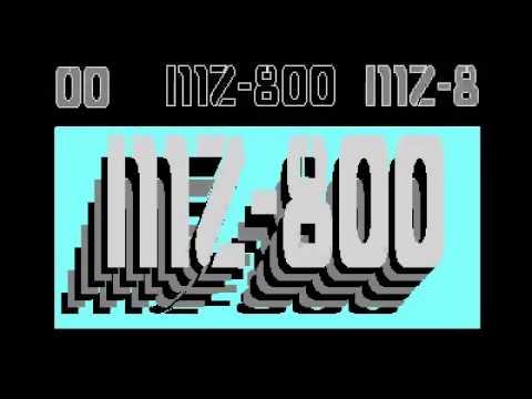 SHARP MZ 800 Opening